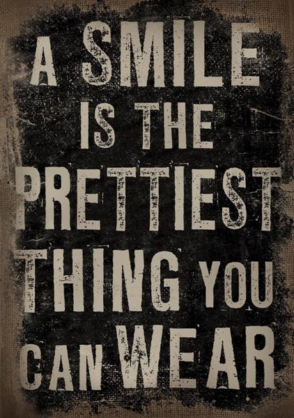 Canvastavla A smile is the prettiest thing you can wear