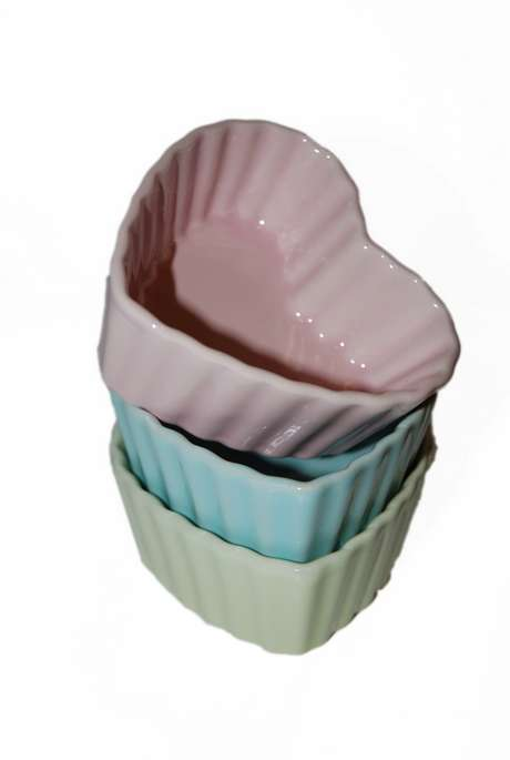 Ugnsform/Dessertskål Hjärta Pastell Grön - Stor
