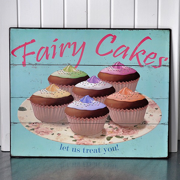 Tin Sign Fairy Cakes