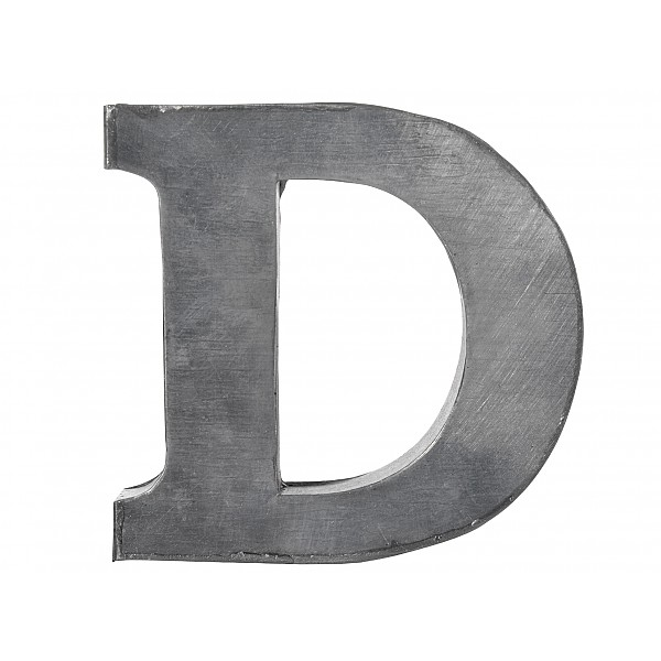 Zinc Letter D