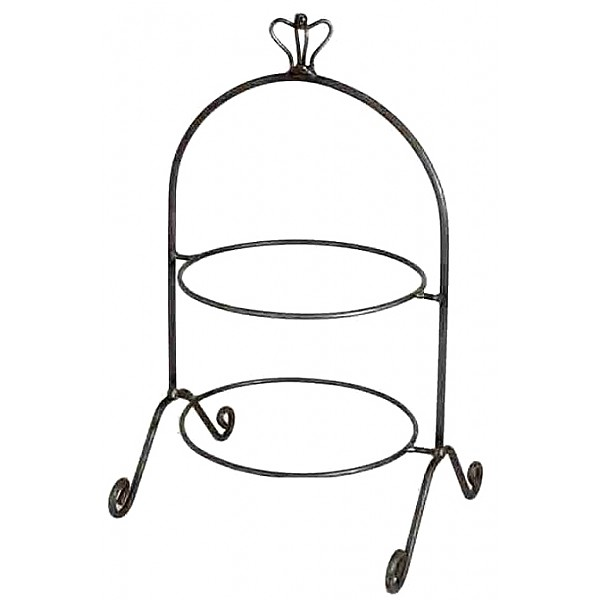 Plate Stand Crown two tier