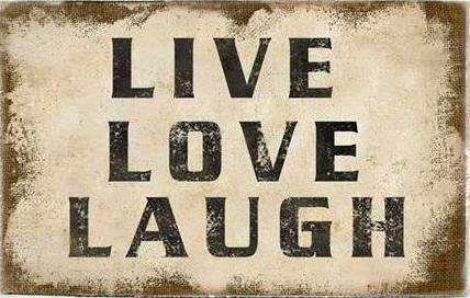 Canvastavla Live Love Laugh