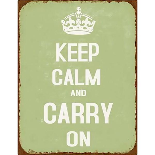 Plåtskylt Keep Calm