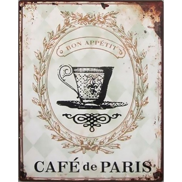 Plåtskylt Café de Paris
