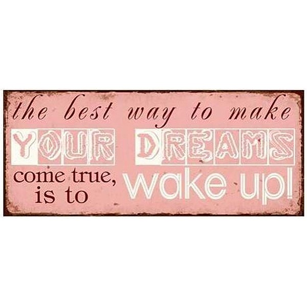Plåtskylt Dreams