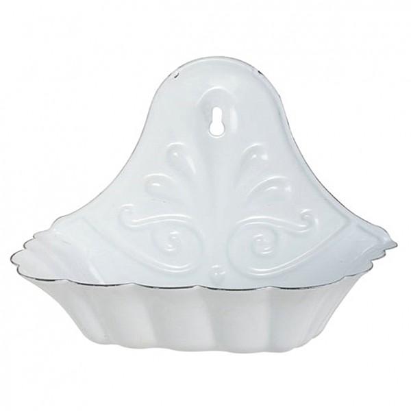 Seifenhalter in weißer Emaille