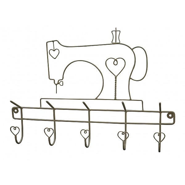 Sewing machine with hooks - Grey