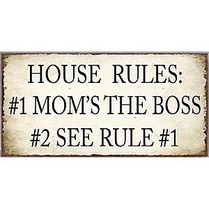 Magnet / Kylskåpsmagnet House Rules