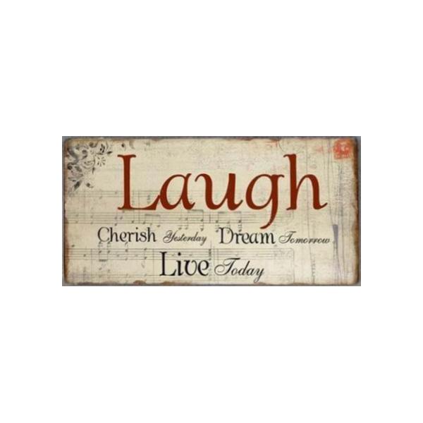 Magnet/Kylskåpsmagnet Laugh cherish yesterday dream tomorrow live today