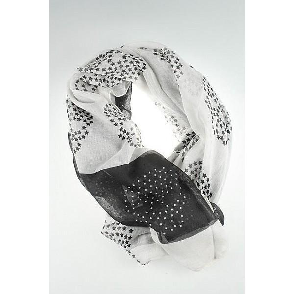 Scarf Skulls - White / Black