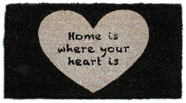 Dörrmatta Home is where your heart is