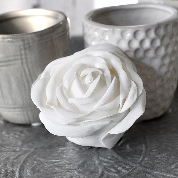 Decor Rose White - 7 cm