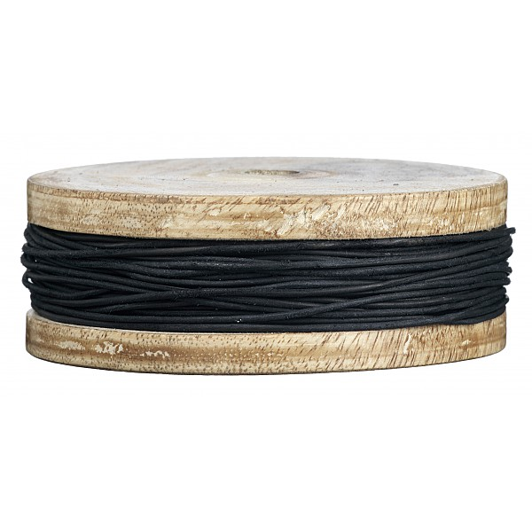 Lederband Schwarz - 1 mm