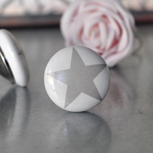 Knopp Stjärna - Grå