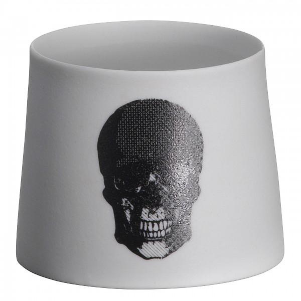 Kerzenhalter / T-light Skull Black