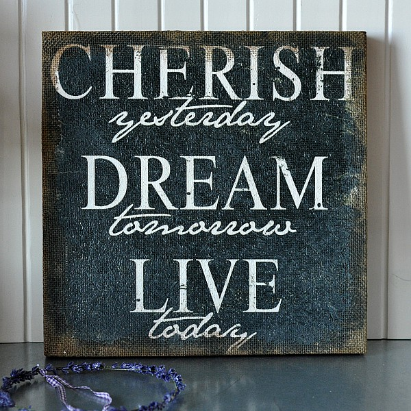 Canvas Cherish yesterday