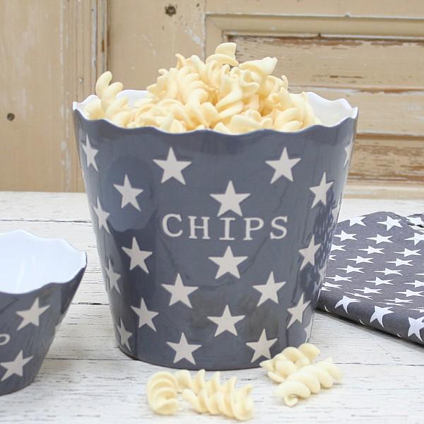 Chipsskål/Skål Chips Star - Mörkgrå (Charcoal)