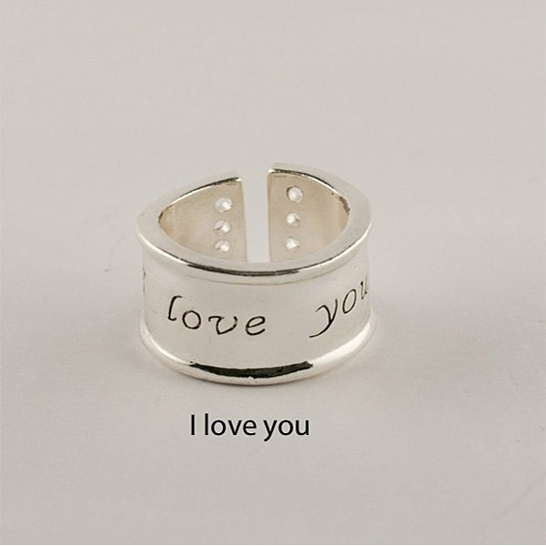 Ring Silver I love you