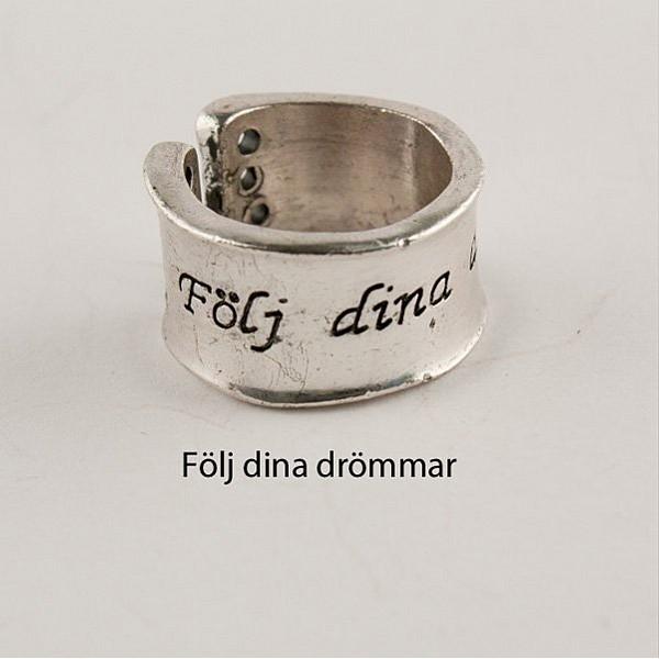 Ring Silver Följ dina drömmar