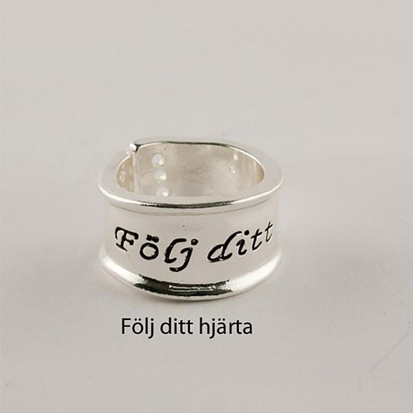 Ring Silver Följ ditt hjärta
