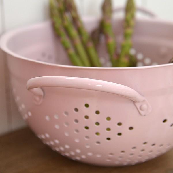 Enamel Colander - New Pink