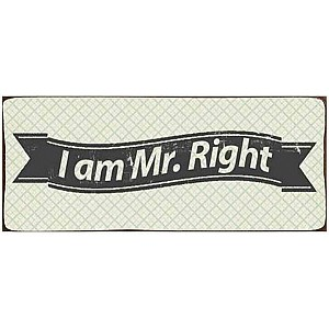 Tin Sign I am Mr. Right