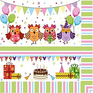 Napkins Owl Party