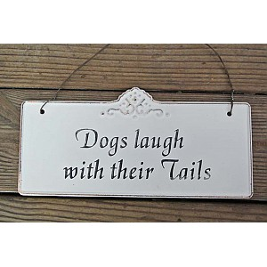 Tin Sign Dogs laugh