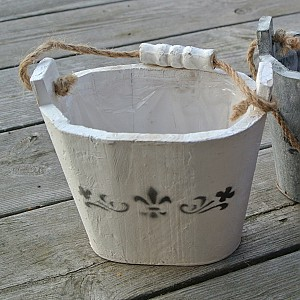 Wooden Bucket with pattern