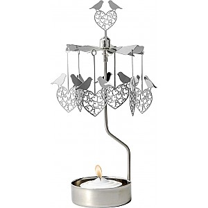 Rotary Candle Holder Bird Heart