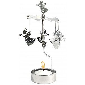 Rotary Candle Holder Trumpet Angel