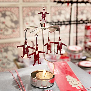 Rotary Candle Holder Santa