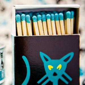 Tändsticksask Katt