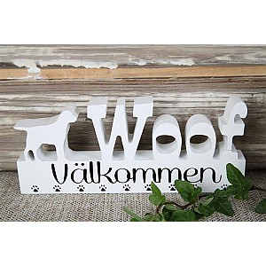 Sign Woof Välkommen