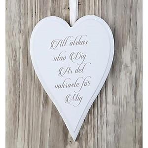 Skylt Hjärta Att älskas utav dig