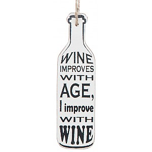Wine Bottle Tag Wine improves with age