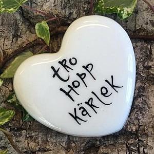 Porcelain Heart Tro Hopp Kärlek