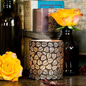 Majas Candle Holder Mosaic Leafs