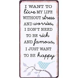 Magnet Ich möchte gerade glücklich sein