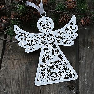Angel Fil de fer - Antikes Weiß