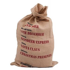 Julklappssäck i jute Reindeer Express - Liten