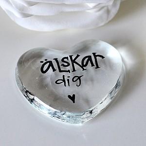 Glashjärta Älskar dig