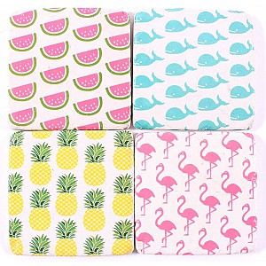 Coasters Melon Whale Pineapple Flamingo