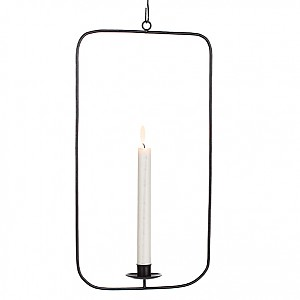 Wrought Iron Candle Holder Rectangle