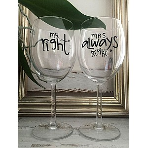 Wine Glass Mrs always right