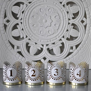 Advent Candle Holders Chic Numbers