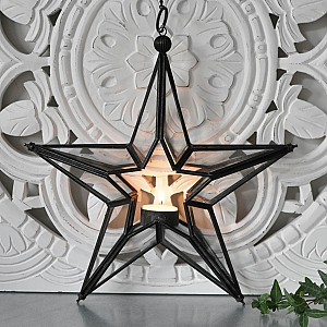 Hanging Candle Holder Star