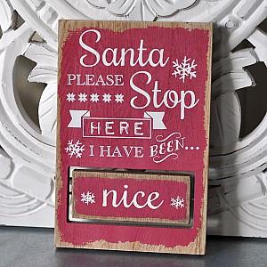 Stop Sign Santa