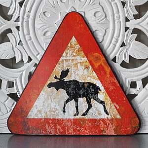Tin Sign Moose