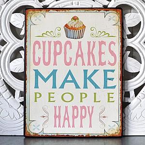 Plåtskylt Cupcakes